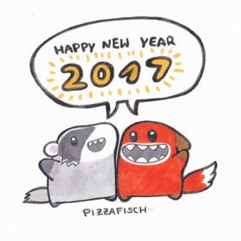 Happy New Year 2017 by PizzaFisch