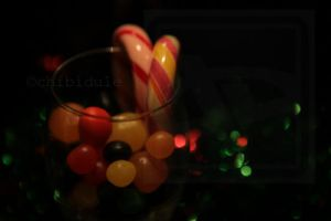 Glass of candies by Chibidule