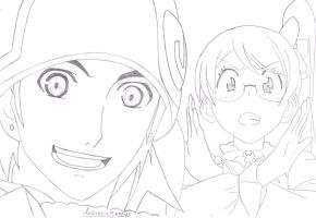 Aquarion Evol Andy and Mix by Artisticgenius25