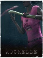 Rochelle - L4D2 vintage poster by The-Loiterer
