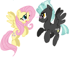 Fluttershy and Thunderlane by Lovelye