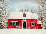 Red winter house by Lord-Makro