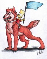 The Simpsons: Epic Wolf Mount! by The-StarDog