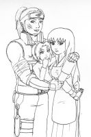 The Haruno Family :lineart: by 1amm1