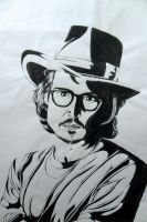 Johnny Depp Cartoon by MikaChin