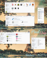 Theme Iconpackager : Pixel Gris by LindaTutos