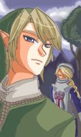 link and sheik by Arkel-chan