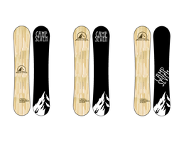 Heritage Snowboard Graphic by 13th-Letter