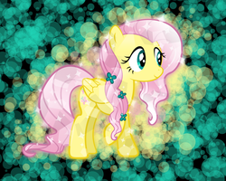 Crystal Fluttershy Wallpaper by PrincessCandra