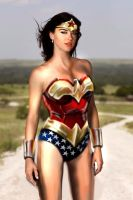 Adrianne Palicki Wonder Woman by thedragonphoenic