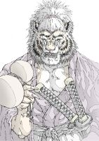 Tiger Samurai by UCHIDER
