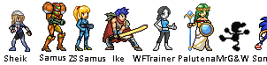 Smash 4 characters sprites by supersilver27