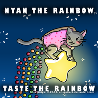 Nyan Cat Skittles Mash Up: Nyan the rainbow by alisagirard