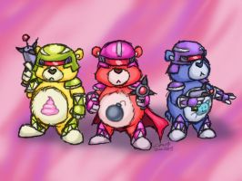 Mighty Morphin Belly Bros by Cazra