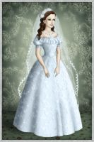 Wedding dress - light blue colour by Arrelline