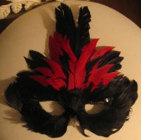 Mask-Black and Red 02 by TrapDoor-Stock