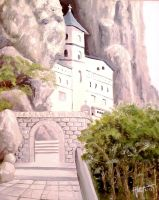Monastery Ostrog by DomeGiant