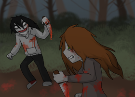 Murderer Lilith VS Jeff the Killer ~ CP by RIOPerla