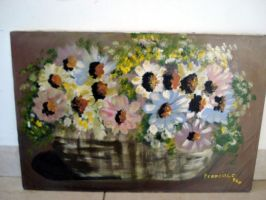 Basket with Flowers by frangg23