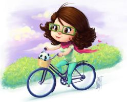 me riding my bike by KarlaDiazC
