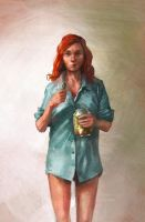 girl with pickles by Skvor