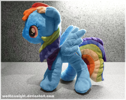 Rainbow Dash Plush II by Wolflessnight