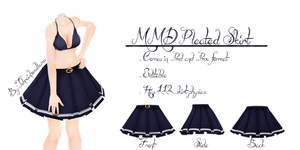 MMD Pleated Skirt by Tehrainbowllama