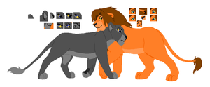 Lion Couple Base by MerlynsMidnight