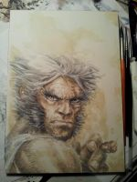 Logan Watercolored - What're you lookin at Bub? by dreamflux1