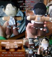 Attack on Titan - Levi Heichou Plushie by Saphiroko