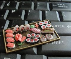 Dollhouse Sushi Platter by fairchildart