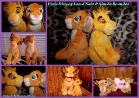 Paris Disney Land Beanies Simba and Nala by DoloAndElectrik