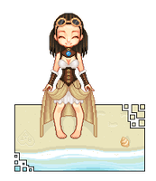 Steampunk lady on d beach by metal-marty