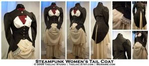 Steampunk Women's Tail Coat by taeliac