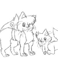 Spoonclaw and Cleverpaw Sketch by That-Wacky-Whovian