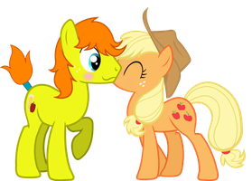T: Applejuice and Applejack by CutesieArt