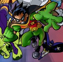 Teen Titans Go Color - WIP2 by jman2004