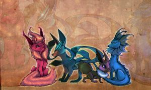 My Fave Eeveelutions by francis-john