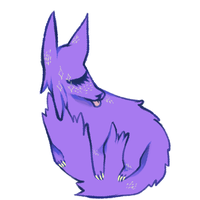 purple dog by cannybal