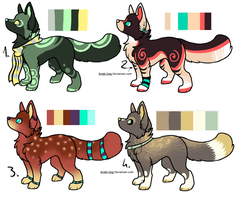 CLOSED - Canines Adoptables 343 by LeaAdoptables