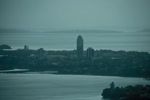 Northshore seen from Sky Tower by MisterDedication
