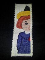 Madeline Cartoon Cross-Stitch Bookmark by DaydreamQueenMisha
