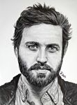 Pencil and Ink Rob Benedict/Chuck Shurley by LoveYouLikeSin