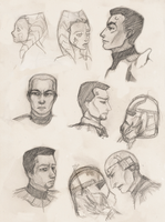 Clone Wars sketches by spica-tea
