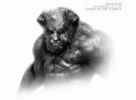 WRATH OF THE TITANS minotaur by Sallow
