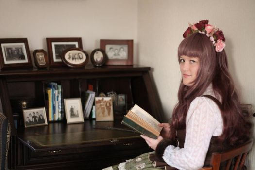 Victorian letter at the writing desk by Softijshamster