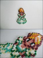 Chrono Trigger Marle/Nadia bead sprite magnet by 8bitcraft