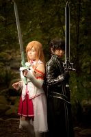 Sword Art Online - Asuna and Kirito by Wolfenheim84