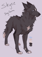 Skyee dog form? by SmidgeFish