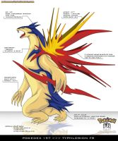 Pokedex 157 - Typhlosion FR by Pokemon-FR
